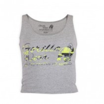 Oakland Crop Tank Gray/Neon Lime Camo